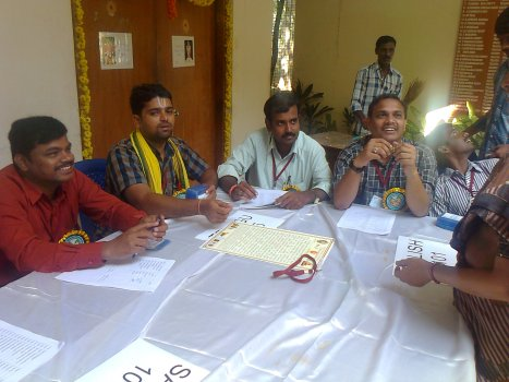 The delegates were divided into Sanskrit, Telugu and English with prefixed numbers denoting the language