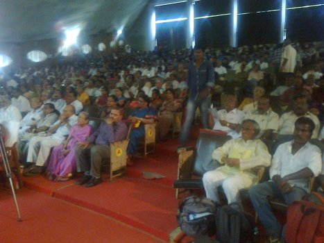 Sectional view of the audience during the inaugural function