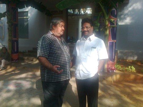 K. V. Ramakrishna Rao with Venkata Ramana Reddy