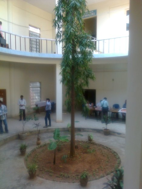 The building where Sanskrit and English sessions were held on 11-01-2014