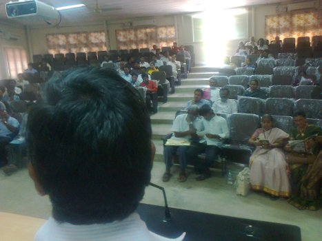 Audience / delegates sitting at the Telugu section on 11-01-2014