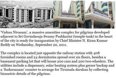 Vishnu nivasam - details